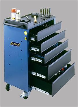 Фирменный набор HAZET 125 предм. в инструментальной тележке